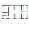 Modulový dům 5-pokojový - půdorys