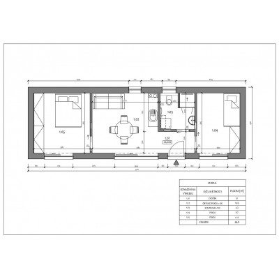 Modulový dům 3-pokojový