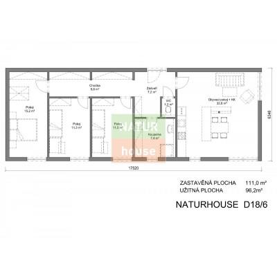 Modulový dům 18x6 m