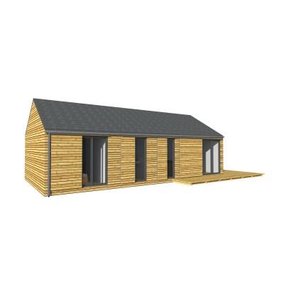 Modulový dům 12x6 m 2kk